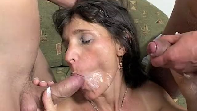Two boys and mom sex Mama rewards two boys hard work with hot dp action