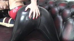 Hot Babe Latex Leggings Striptease