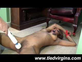 Ebony Slut Bound Orgasm