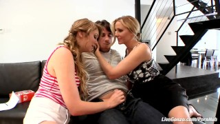 LiveGonzo Jessie Andrews & Julia Ann Sweet Teen & MILF Threesome