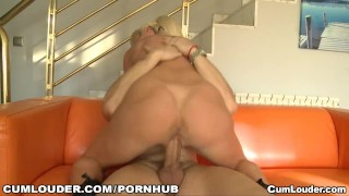 Angelica Castro gets fucked and swallows jizz Eating blonde