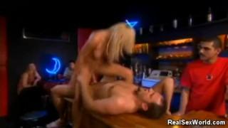 Fucking At The Bar Tits sucking