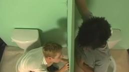 Twinks Fuck in Public Bathroom