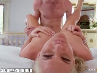Preview 4 of Pair of stunning blondes show off their deepthroating skills