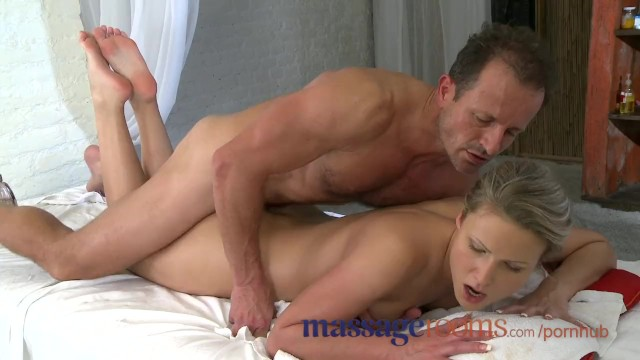 Mature clit rubbing - Massage rooms innocent young clits are aroused by mature masseuse fingers