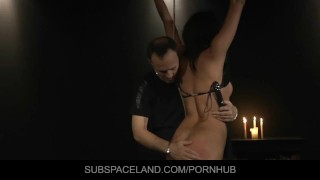 Restrained for a harsh lesson Solo butt
