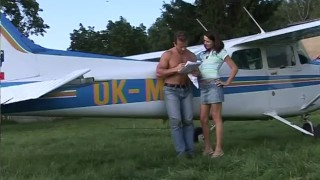 Fucking the pilot outdoors porno