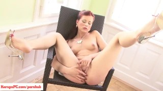 Redhead Lacey Kirscuner Pussy Play Teasing petite