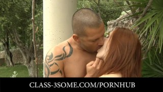 Two stunning young ladies Tina Blade and Denisa Heaven in threesome Rough blonde