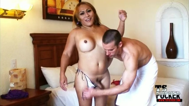 Men ass fucked by hung shemales Mexican shemale tonya gets fucked by the tsfucker