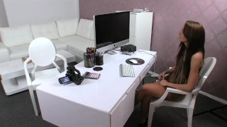 FemaleAgent. English rose on Czech couch