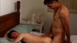 Nasty interracial bareback action fuck anal
