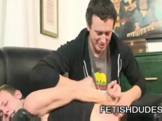 Derrick Paul And Hans Blan - Fetish Master Spanking A Naughty Queer Twink