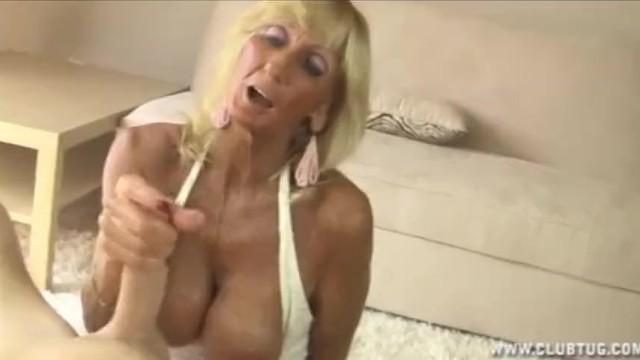 Granney hand job - Horny granny jerking off