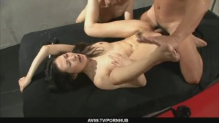 Threesome anal oriented fucking with tight babe Yui Komine