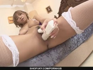 Big Titted MILF Sumire Matsu Squirts From Masturbating