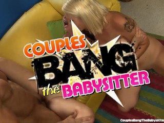 Sweet Babysitter Seduced By Swinger Couple