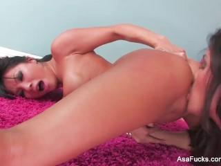 Asa Akira Hot Lesbian Fun