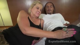 Slutty Blonde Grandma Gets Turned On By Dirty Talk