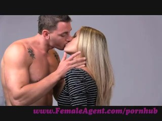 FemaleAgent. Smoking hot new female agent seducees stud