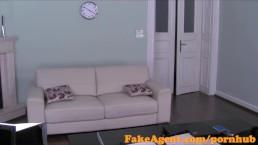 FakeAgent Cute petite amateur takes anal creampie