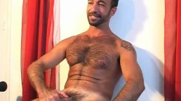 A sexy arab sport guy get wanked his huge cock by us in spite of him!