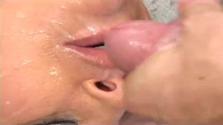 FemaleAgent shy beauty practices her skills licking pussy