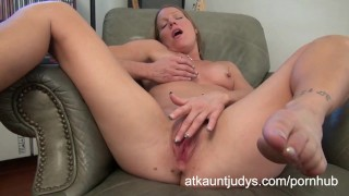 Alyssa Dutch masturbates on AuntJudys.com Maria brunette