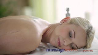Preview 1 of Massage Rooms Big boobs blonde gets oiled up before filthy hardcore fucking