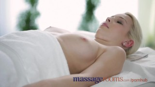 Preview 4 of Massage Rooms Big boobs blonde gets oiled up before filthy hardcore fucking