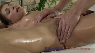 Massage Rooms Tight young girls squirting with orgasm before creampie Riding busty