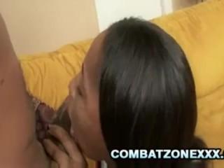 Mocha Love - Black Teen Savoring A Thick Black Cock