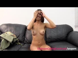 Preview 4 of Creampie 4 Teen Jojo on Casting Couch