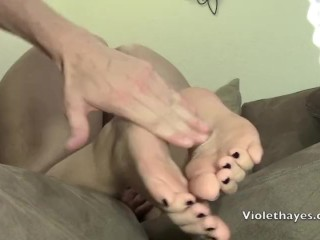Violet Hayes – Foot Fetish – Doggystlye Fuck With Cummed On Soles