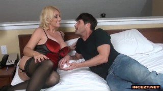 Step-mom fucks son for his brithday Tits milf