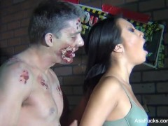 Behind the Scenes from Asa Akira vs. Zombie shoot