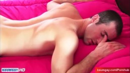 Real straight guy serviced ! Guillaume's huge hard cock under water !