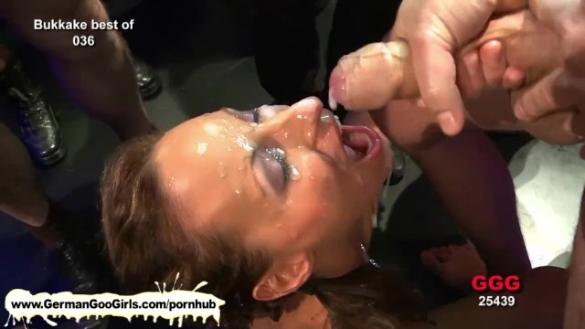 Goo dumpers facials Stunning brunette lady gets pussy pounded and jizz soaked