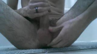 Bathroom fun time masturbate hair