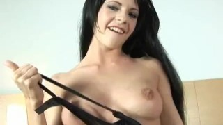 Preview 3 of Hungaria beauty Aliz fills her pussy with a huge dildo