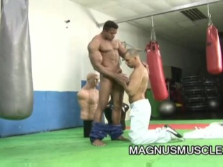 Douglas Masters And Alexander Senna - Muscle Bound Freaks Anal Gym Workout