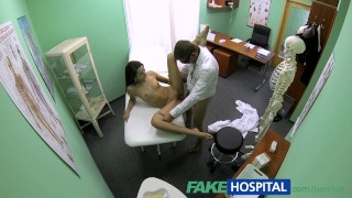FakeHospital Slim natural young student cums for check up Multiple creampiecathy