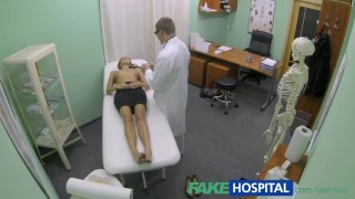FakeHospital Hot girl with big tits gets doctors treatment Amateur small