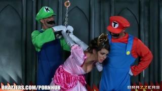 Brazzers parody luigi double and mario stuff tied skinny