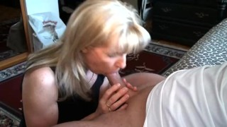 A sucking year cock old mom job