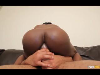 Black Shemale Natalia Cox Takes Castros Huge Dick Deep