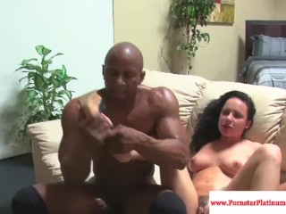 Katie St.Ives pounded with black cock