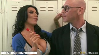 Brazzers room locker threesome deepthroat brazzers.com