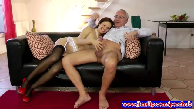 British porno jim Teen amateur in stockings fucked in her tight pussy by old man