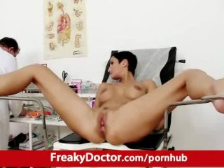 Gorgeous Gabrielle Gucci vaginal finger check-up